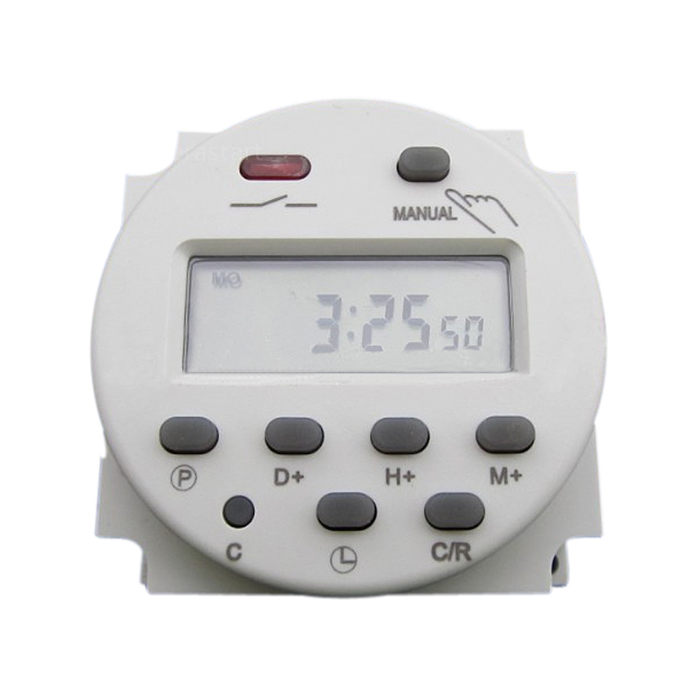 Digital Power Switch : Cn dc v a digital lcd power programmable timer time