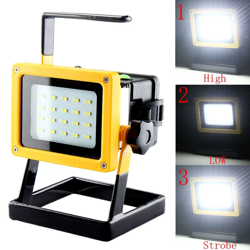 Outdoor Flood Light Does Not Work: Outdoor Camping Hike 30W Work Light Rechargeable 20LED