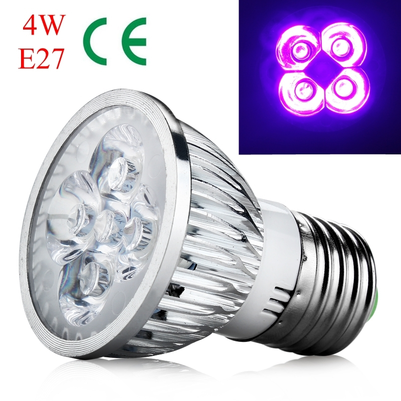 4w 5w e27 gu10 mr16 uv led ultraviolet spotlight lamp bulb. Black Bedroom Furniture Sets. Home Design Ideas