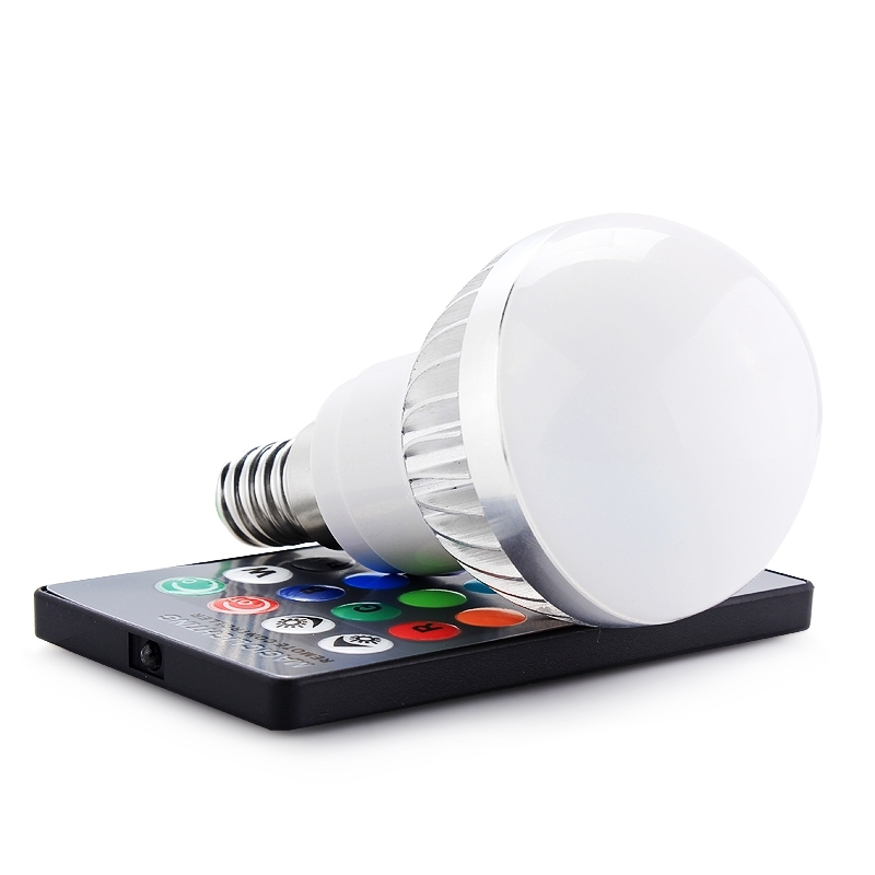3w e14 rgb led bulb light lamp 16 colors change with 24 key remote control great ebay. Black Bedroom Furniture Sets. Home Design Ideas