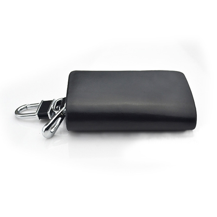 Genuine leather car key holder keychain ring case bag for for Mercedes benz key pouch