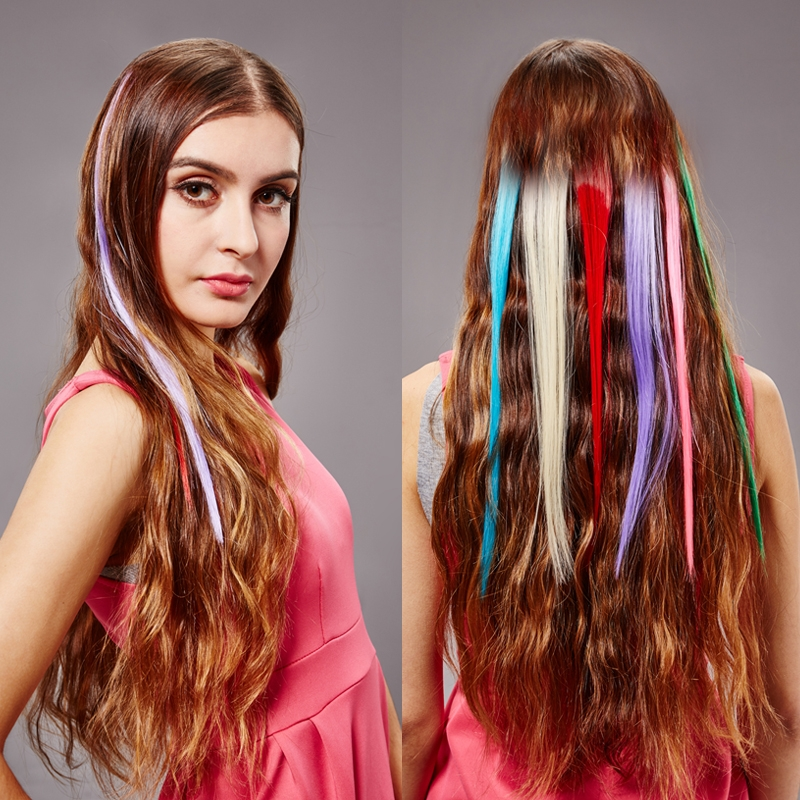 Clip In Colored Hair Streaks Quality Hair Accessories