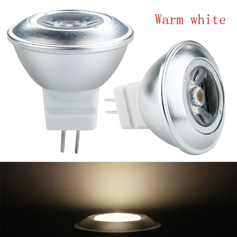 high quity ac dc 12v 1w mr11 gu4 led spotlight ceiling bulb lamp warm cool white ebay. Black Bedroom Furniture Sets. Home Design Ideas
