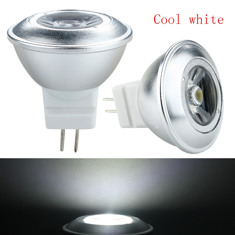 high quity ac dc 12v 1w mr11 gu4 led spotlight ceiling bulb lamp warm cool white ebay. Black Bedroom Furniture Sets. Home Design Ideas