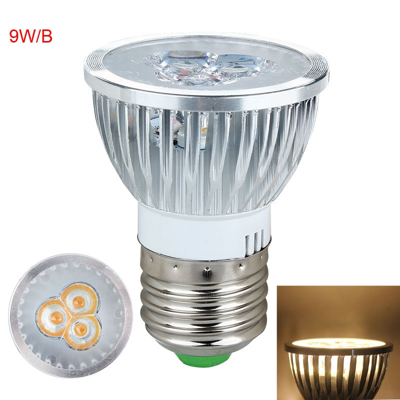 new dimmable high power 9w 15w e27 gu10 mr16 led lamp spotlight warm cool white ebay. Black Bedroom Furniture Sets. Home Design Ideas