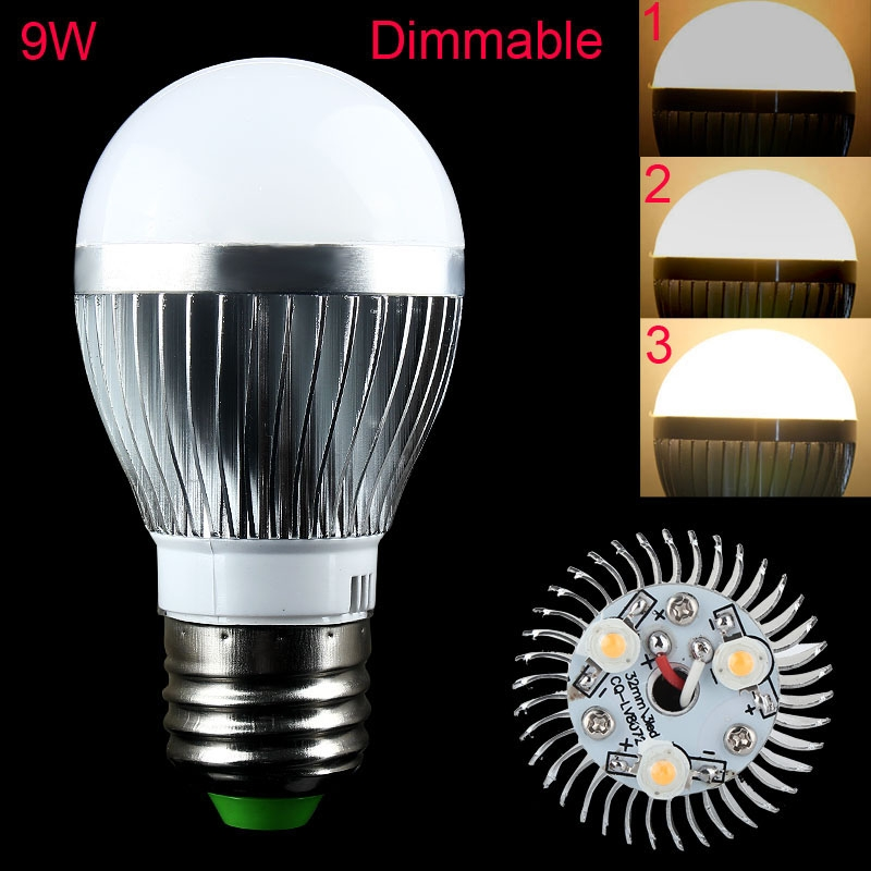 1pc dimmbar e27 9w ultra bright led globe lampe lampen warmwei 220v gro e ebay. Black Bedroom Furniture Sets. Home Design Ideas