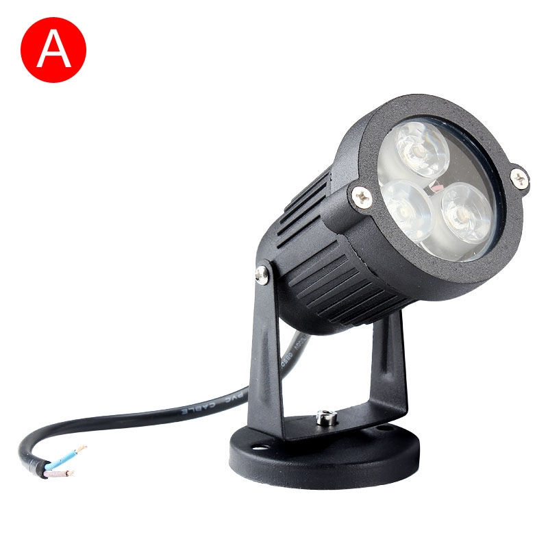 1 5 10pcs 9w waterproof outdoor led landscape lawn lamp garden spot light new ebay. Black Bedroom Furniture Sets. Home Design Ideas