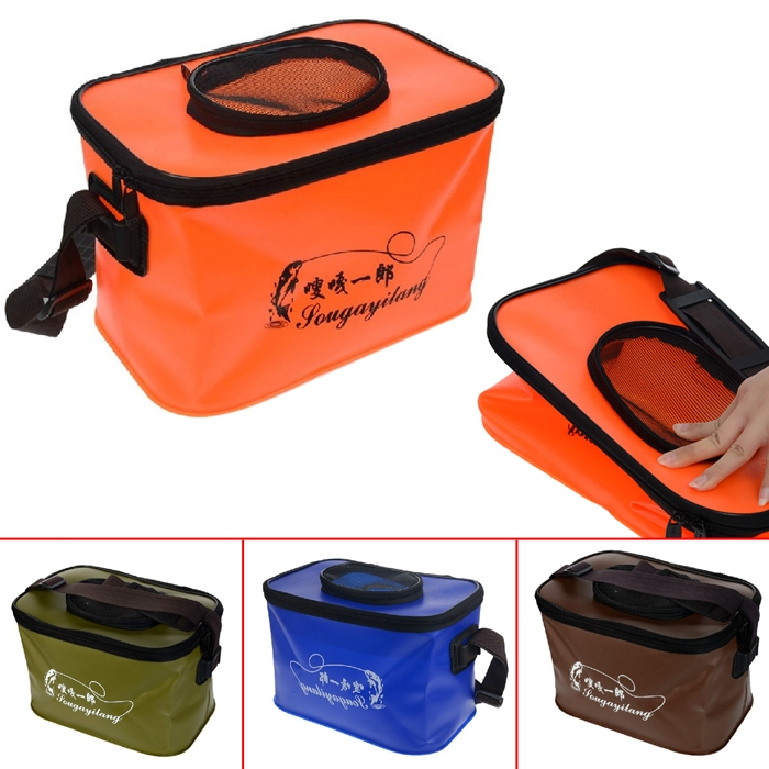 EVA Foldable Fishing Bucket Multi Purpose Live Bait Waterproof Container