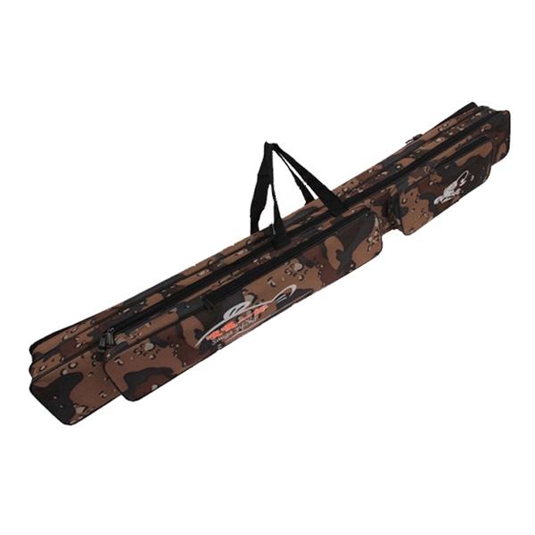Dersert camo fishing rod bag outdoor sports travel double for Camo fishing pole