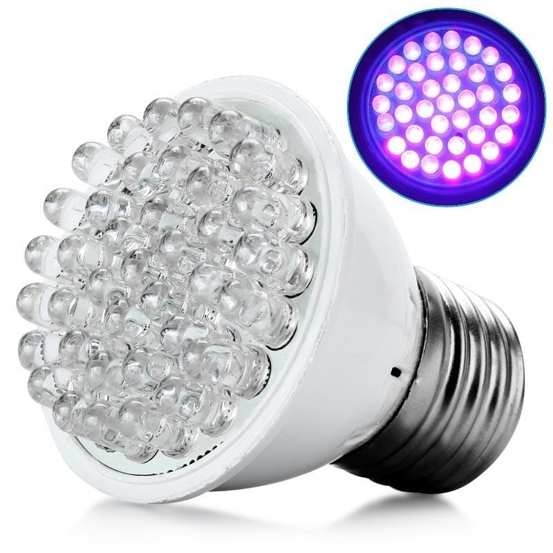 ultra bright e27 uv ultraviolet color purple light 38led. Black Bedroom Furniture Sets. Home Design Ideas