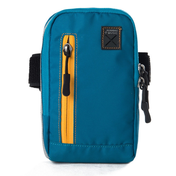Outdoor Cycling Wrist Bag W/ Headphone Jack�Multifunction Pouch Sky Blue