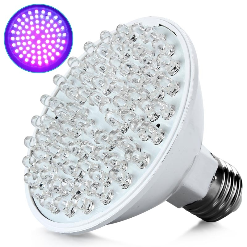New Ultra Bright E27 Uv Ultraviolet Color Purple Light 80led Lamp Bulb 110 220v