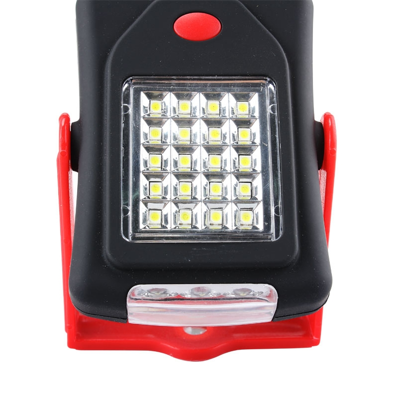 20SMD 3LED Portable Magnet Emergency Work Light�Camping Lamp W/ Hook Red