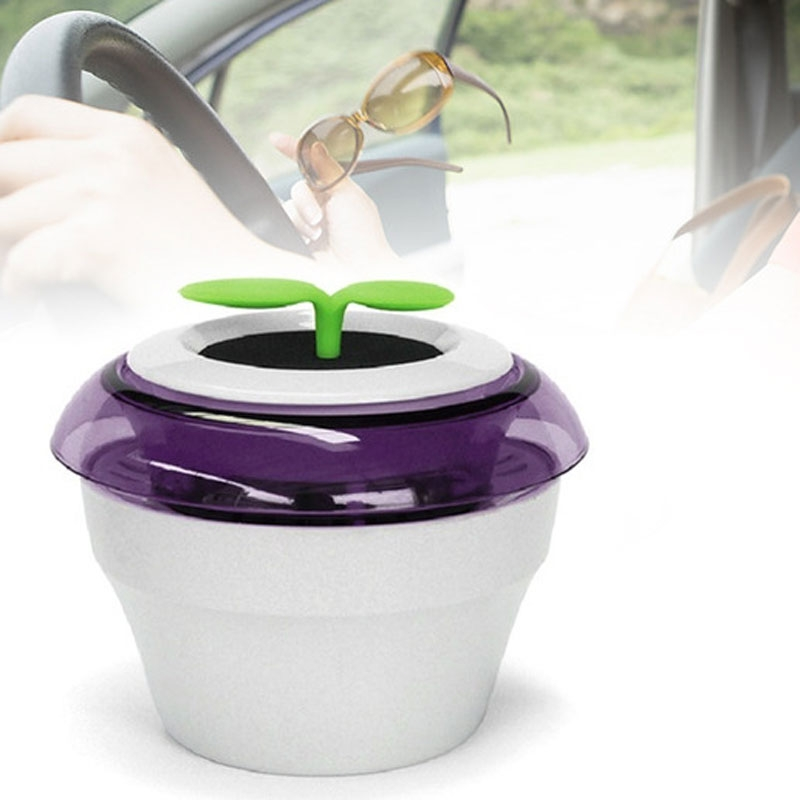 Portable USB Car Air Purifier Fresh Oxygen Bar Ionizer Cleaner Purple