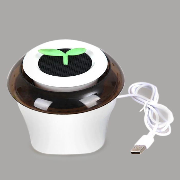 Portable USB Car Air Purifier Fresh Oxygen Bar Ionizer Cleaner Coffee