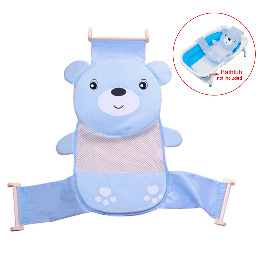 baby bath seat net support sling shower mesh bathing cradle hammock blue tool ebay. Black Bedroom Furniture Sets. Home Design Ideas