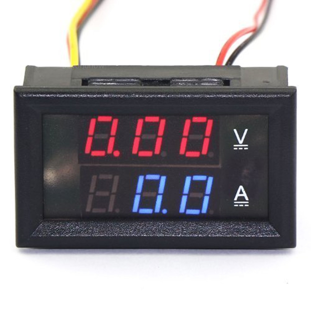 dc voltmeter blau rot led anzeige spannung strom messen digital voltmeter. Black Bedroom Furniture Sets. Home Design Ideas