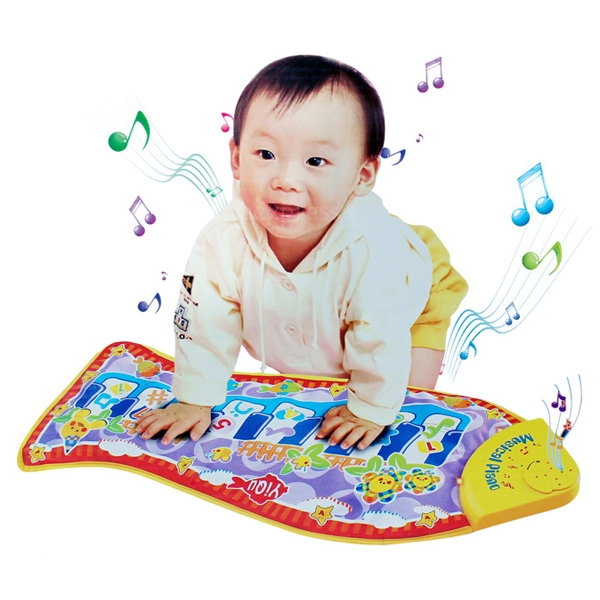 Baby kid piano fish animal mat music developmental toy for Baby fish song