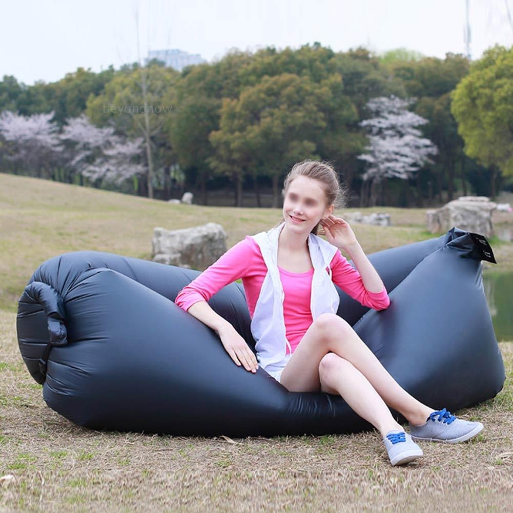 outdoor faul aufblasbare couch luft alpenzimmern sofa l ttich tasche campingbett ebay. Black Bedroom Furniture Sets. Home Design Ideas