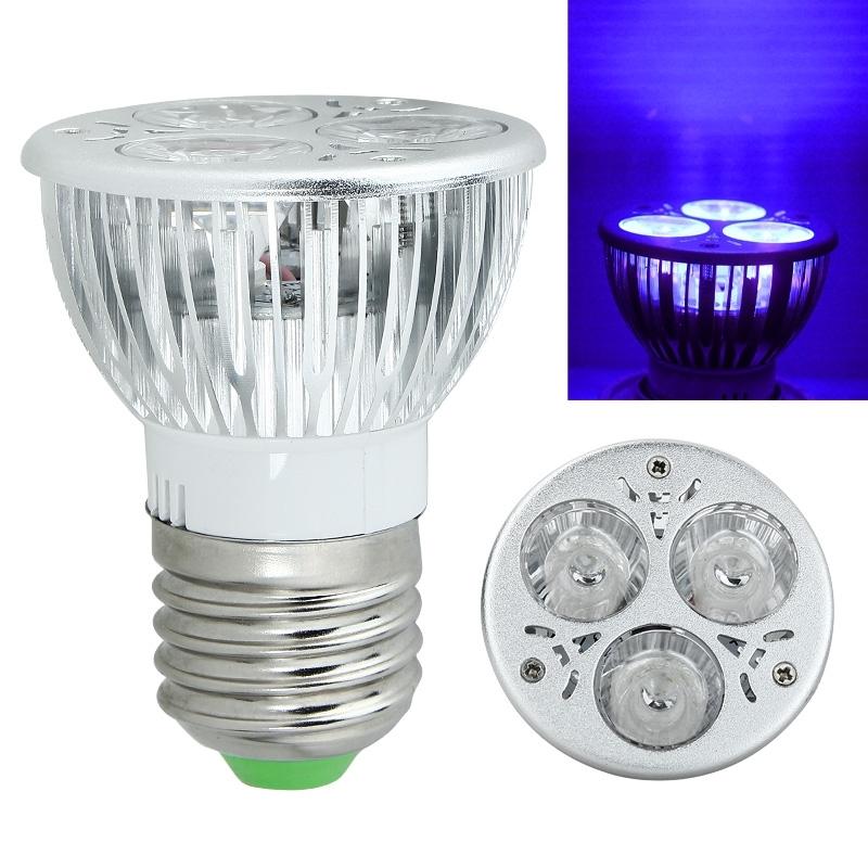 3w 85 265v 12v e27 uv led uv violett lampe licht scheinwerfer lampe ebay. Black Bedroom Furniture Sets. Home Design Ideas