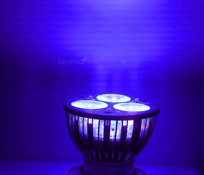 high power 3w 3x1w mr16 uv ultraviolet lila licht led lampe lampe 12v ebay. Black Bedroom Furniture Sets. Home Design Ideas