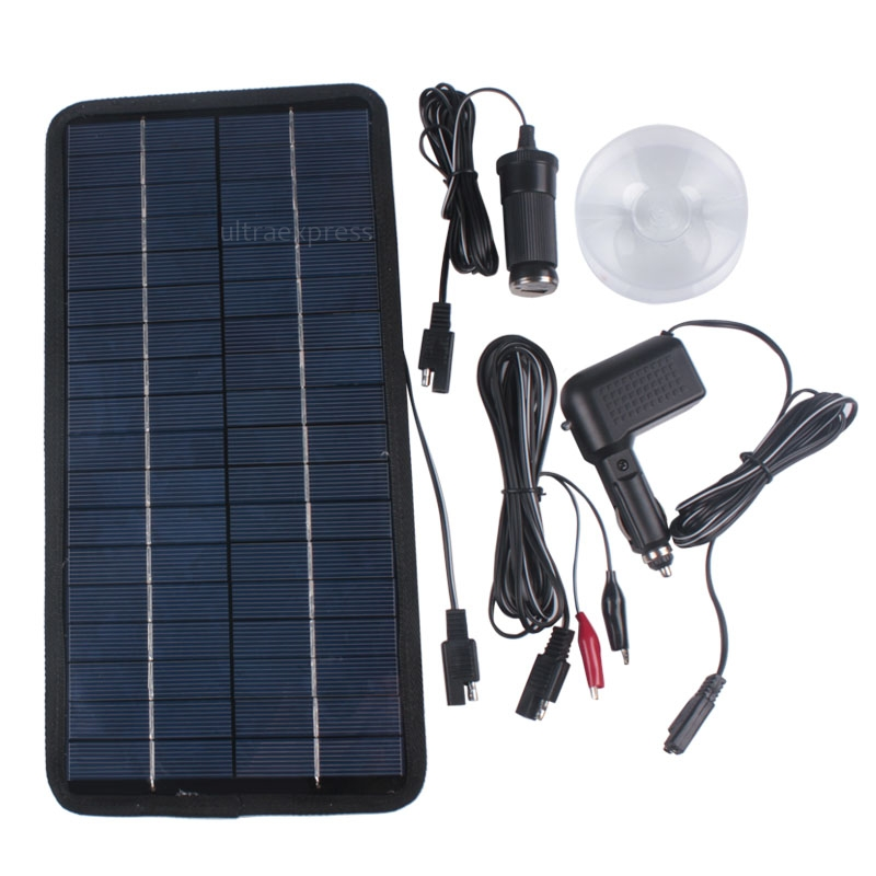 Portable Solar Panel Battery Charger 12v 8w For Car Rv Car