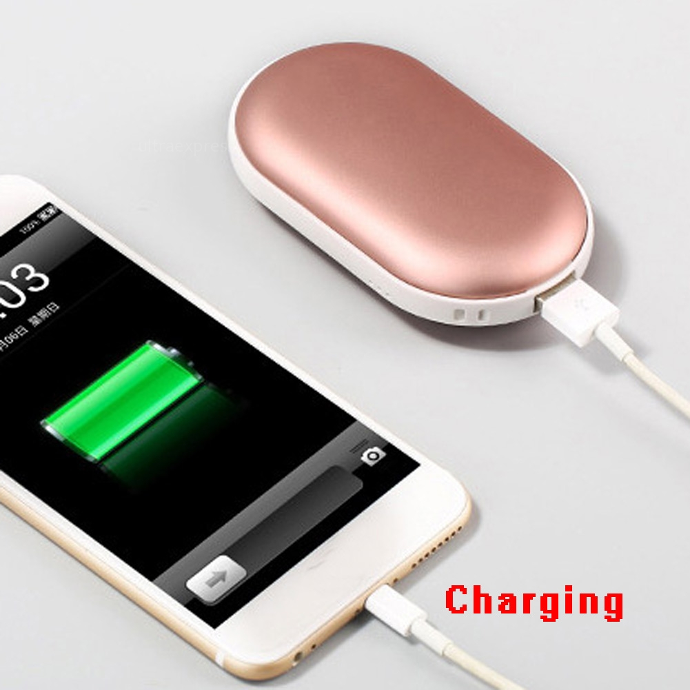 Cobblestone Usb Charger Electric Hand Warmer Rechargeable