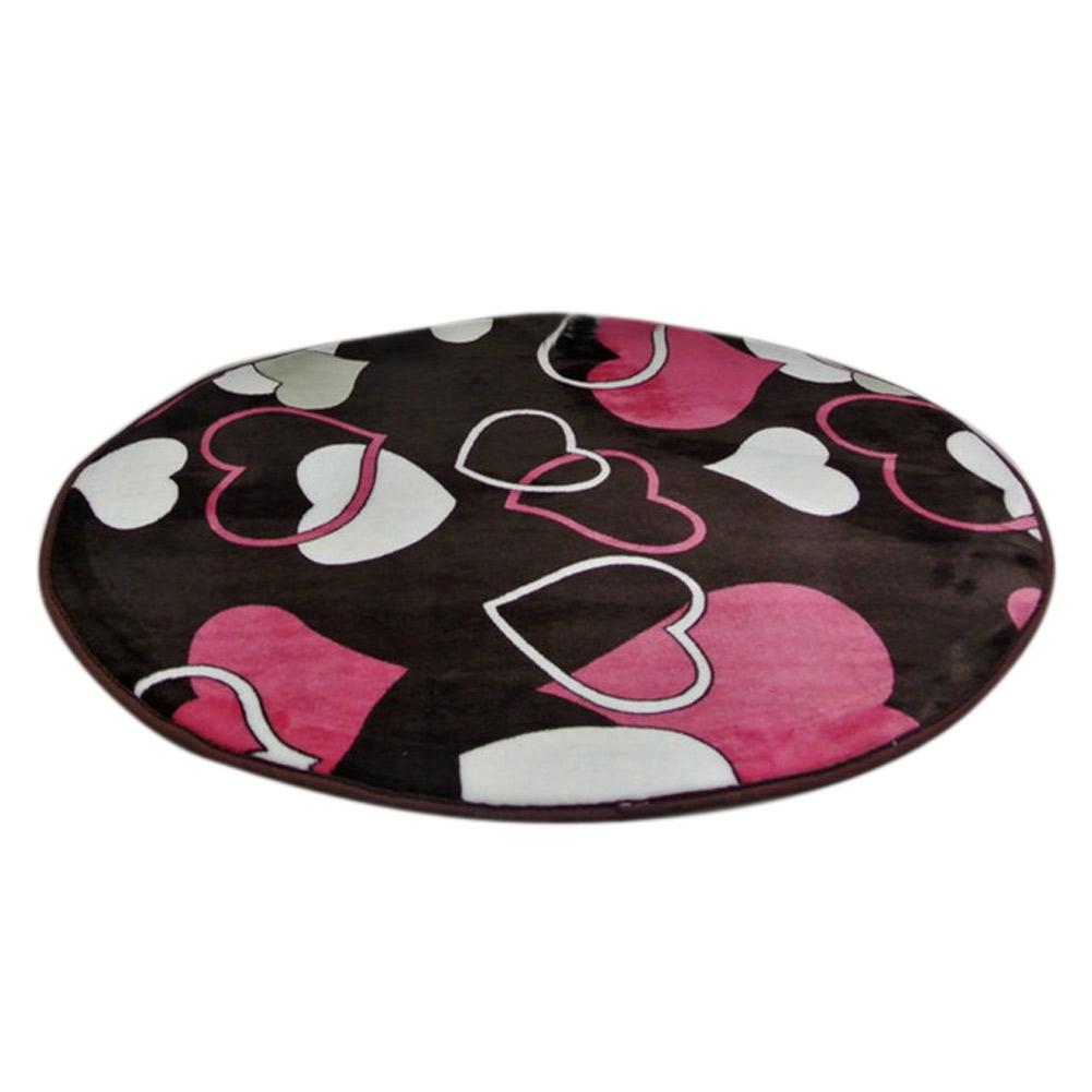 Soft Round Coral Velvet Carpet Rug Non-slip Yoga Mat