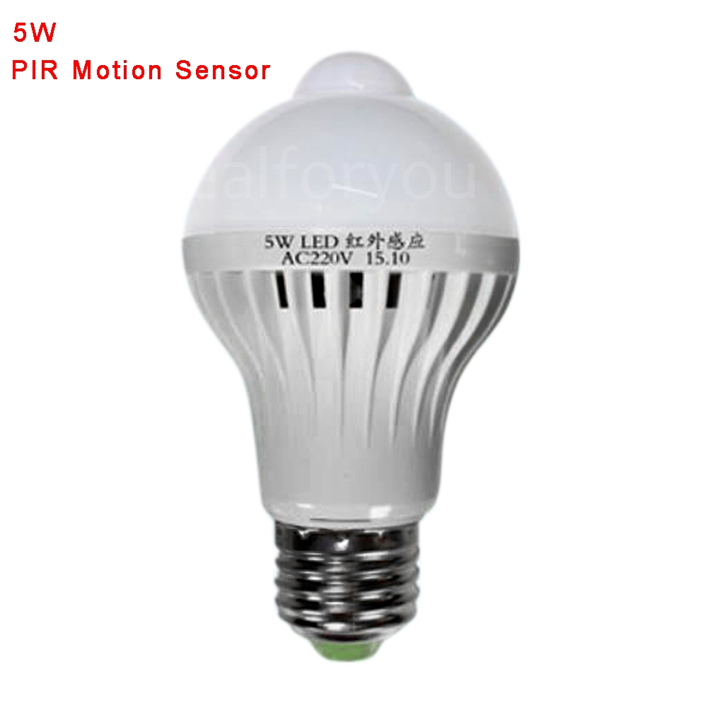 5W/7W/9W LED Smart Sound PIR Motion Sensor Ball Light