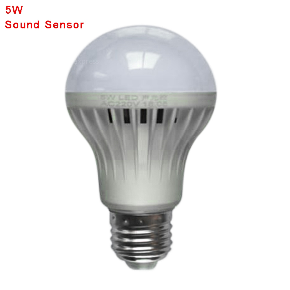 LED Smart Auto Sound Sensor PIR Motion Ball Light Globe