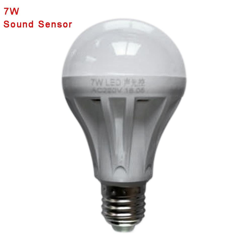 LED Smart Auto Sound Sensor PIR Motion Ball Light Globe