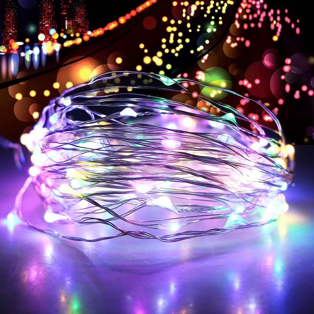 33ft/10m 100 LED Christmas String Light Lamp + Dimming Controller+ 12V2A Adapter eBay