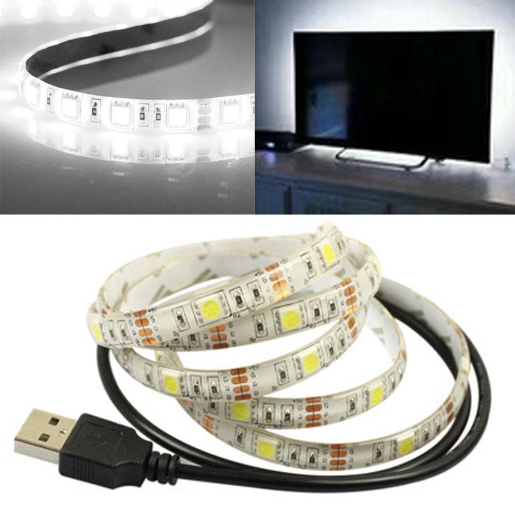 Led Home Theater Tv Back Light Bias Accent Lighting Kit: LED Home Theater TV Back Light Bias Kit Multi-Color USB