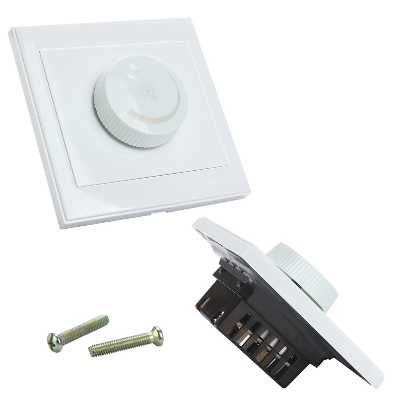 Wall Lamp With Dimmer : AC 220V Rotary Dimmer Wall Controller LED Light Switch For 5730/5050 LED Lamp eBay