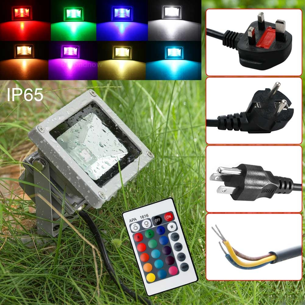 Led Landscape Lighting Controller: Outdoor 10W RGB Waterproof LED Flood Light Landscape Lamp