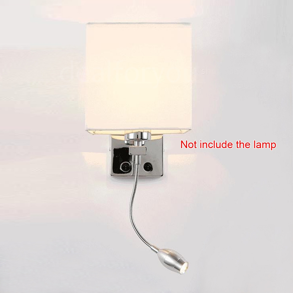 Wall Sconce With Usb : Modern LED Cloth Wall Lamp Wall Sconce Light Hallway Bedroom Hotel Wall Lighting