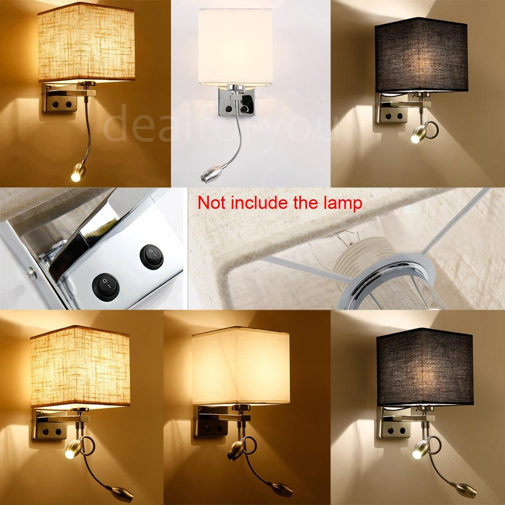 Modern LED Cloth Wall Lamp Wall Sconce Light Hallway Bedroom Bedside Wall Light