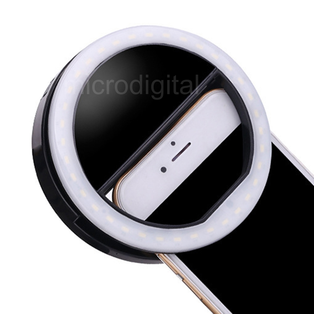Makeup Ring And Lights: Portable Makeup White Selfie Fill Light LED Flash Ring