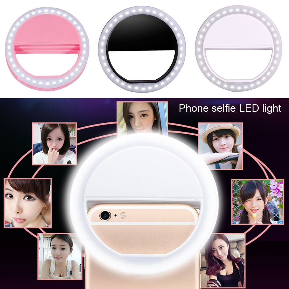 Portable Selfie Makeup LED Ring Flash Light Camera Photography For ...