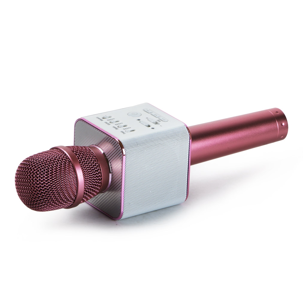 q9 wireless karaoke microphone portable bluetooth ktv mic speaker usb player. Black Bedroom Furniture Sets. Home Design Ideas