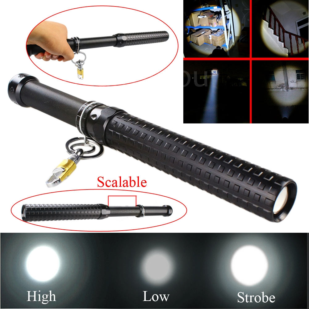 2000 lumen cree q5 led zoomable baseball bat flashlight security torch lamp ok ebay. Black Bedroom Furniture Sets. Home Design Ideas