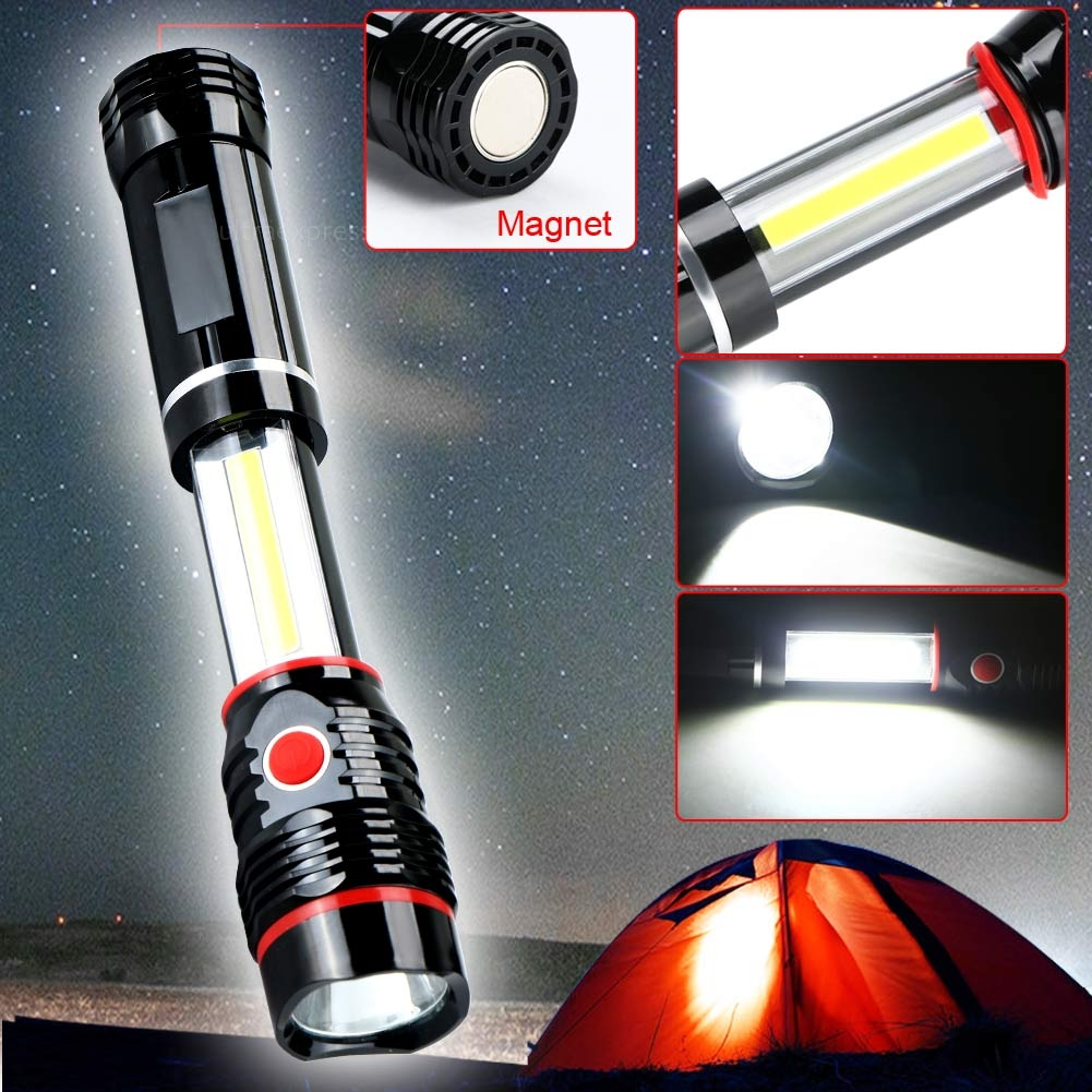 Cob Led Work Light Inspection Lamp Hand Tool Garage: COB LED Magnetic Camping Work Inspection Light Lamp 300LM