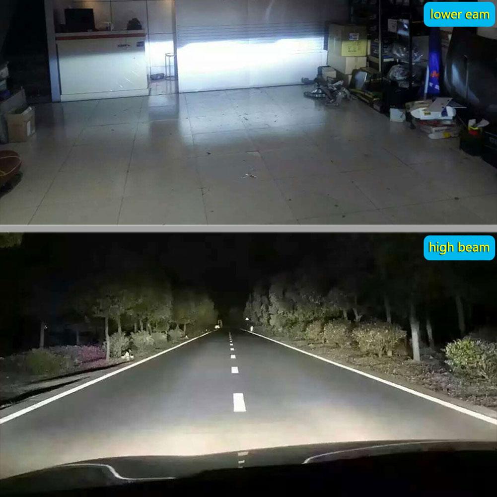 2PCS Super Bright COB H7 C6 7600LM 72W LED Car Headlight Fog Light Lamp Bulb New