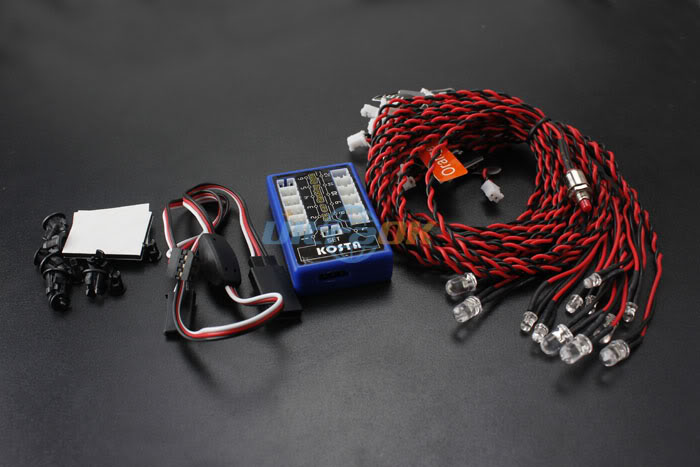 12 LED Multi-color Flashing Light Lamp System for RC Car Robotic Hobby