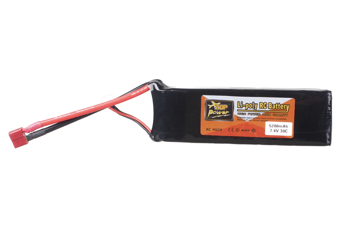 5200mAh 7.4V 30C Lipo Battery Cell for RC Toy Car Helicopter Airplane