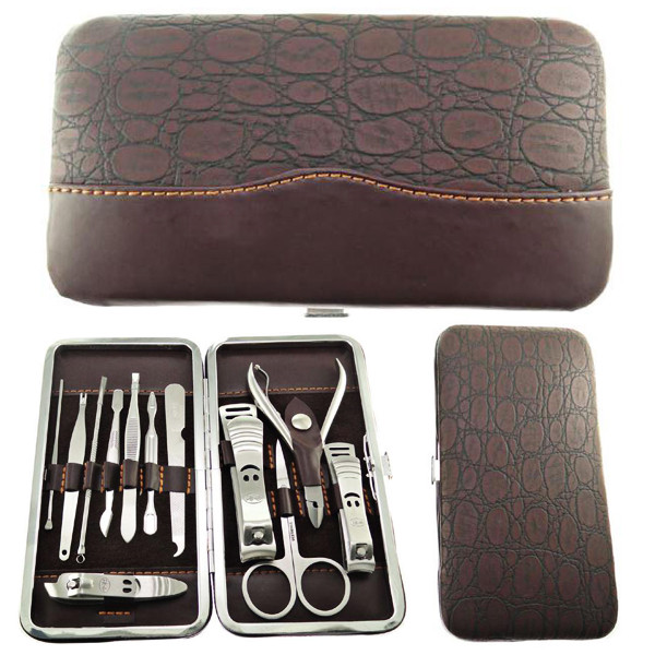 12pcs Manicure Pedicure Set Nail Scissors Grooming Kit Little Cosmetic Bag