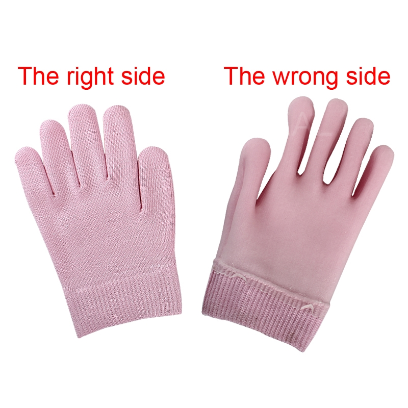 1 pair Soft Pink Gloves Whiten Skin Moisturizing Treatment SPA Gel Gloves