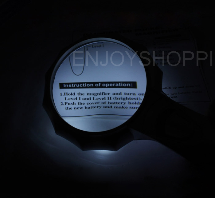 Handheld Magnifying Lens Glass 4X Magnifier for Reading with Adjust