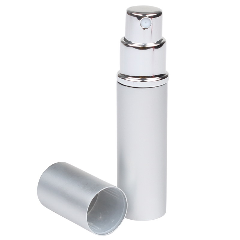 Refillable Perfume Aftershave Atomizer Spray Bottle for Handbag Silver
