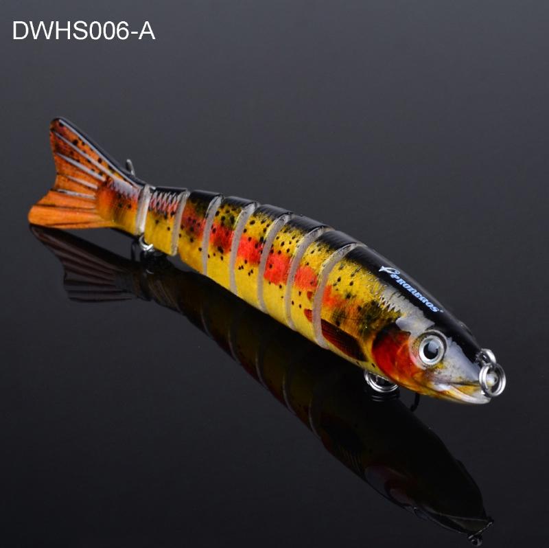 4-84zoll-Angeln-Koeder-Swimbait-lebensechte-Wobbler-Hecht-Bass-Killer-verbunden Indexbild 4